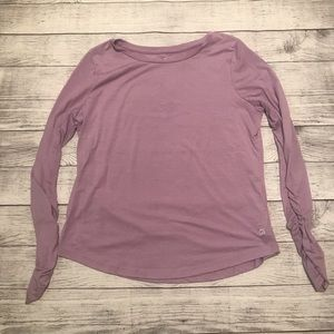 GAP Fit Dry Long Sleeve Ruched Shirt